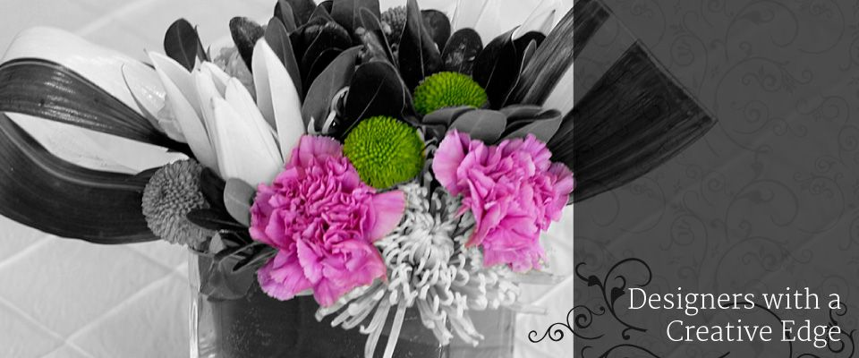 Designers with a Creative Edge - Flowers Black and White